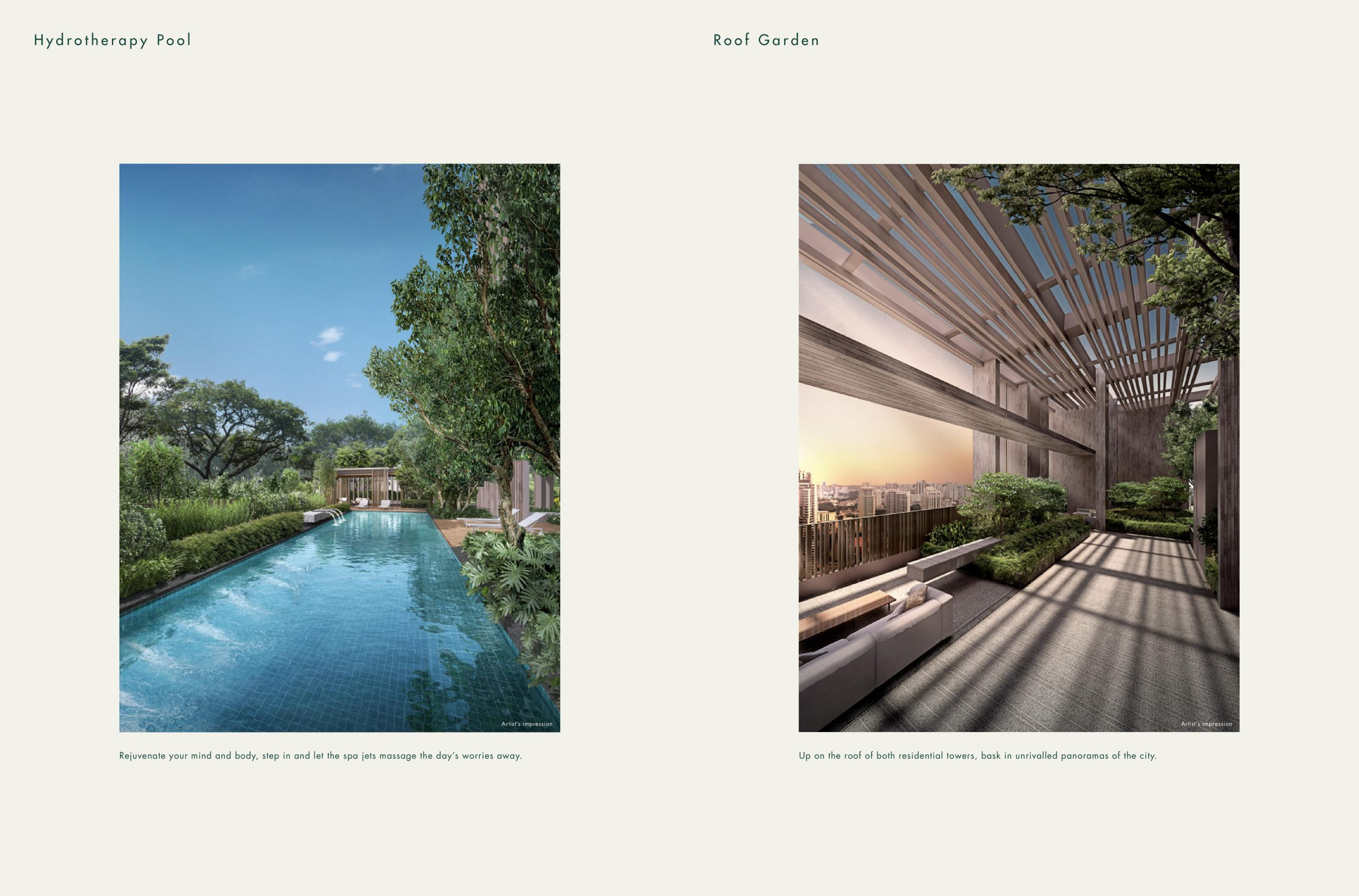 The Avenir Hydrotherapy Pool Roof Garden